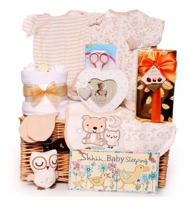 Little Owl Sleeping Baby Hamper.