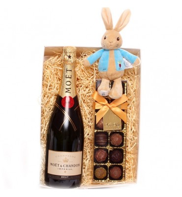 Champagne and Truffles Peter Rabbit Baby Gift Set