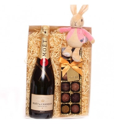 Champagne and Truffles Flopsy Rabbit Gift Set