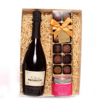 Prosecco, Truffles and Candle Gift Set