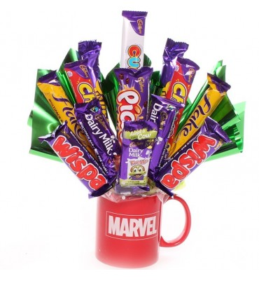Marvel Mug with Chocolate Bouquet