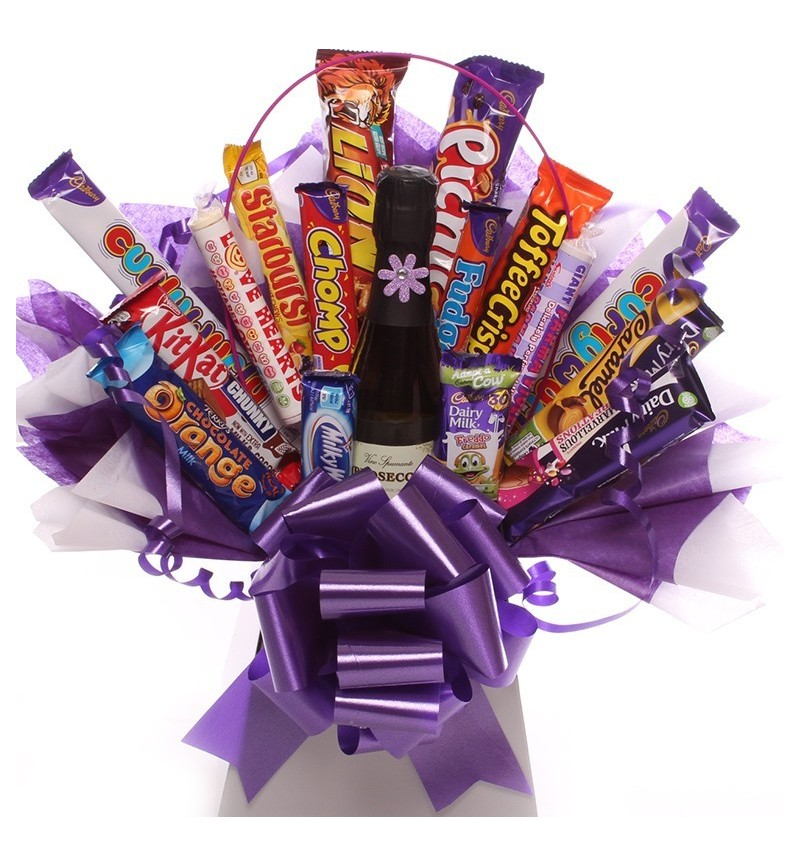 Prosecco Sweets and Chocolate Bouquet.