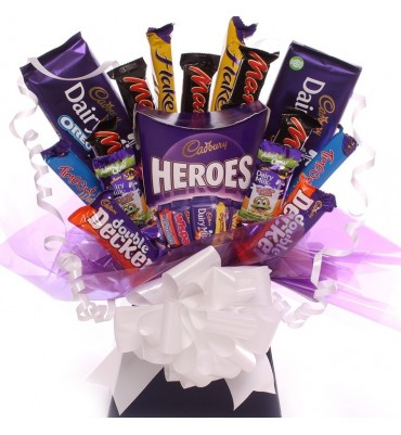 Cadbury Hero Chocolate Bouquet.