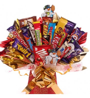 Christmassy Treat Chocolate Bouquet