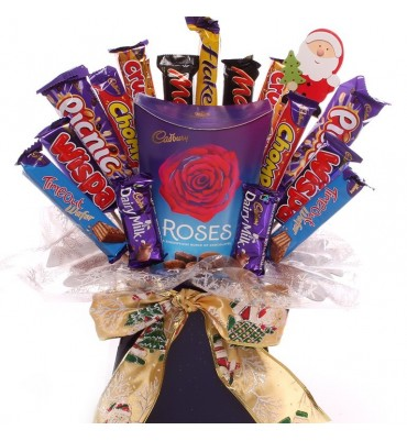 Cadbury Roses Chocolate Christmas Bouquet.