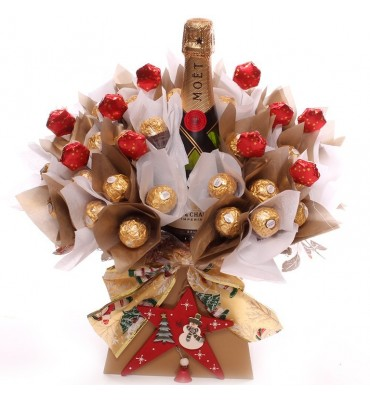 Champagne and Ferrero Rocher Chocolate Bouquet