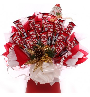 Christmas KitKat Chocolate Bouquet.