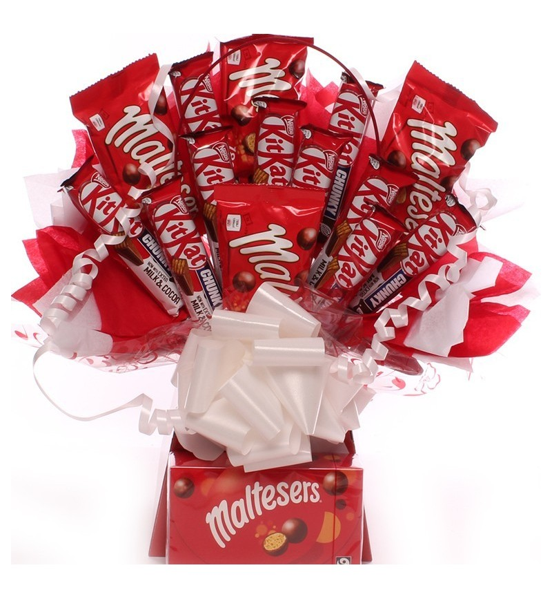 Kit Kat Chunky And Maltesers Chocolate Bouquet