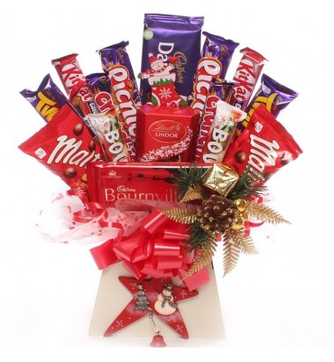 Christmas Star Chocolate Bouquet.
