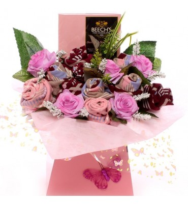 Beeches Strawberry Ladies Sock Bouquet