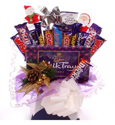 Christmas Milk Tray and Cadbury Chocolate Bouquet.