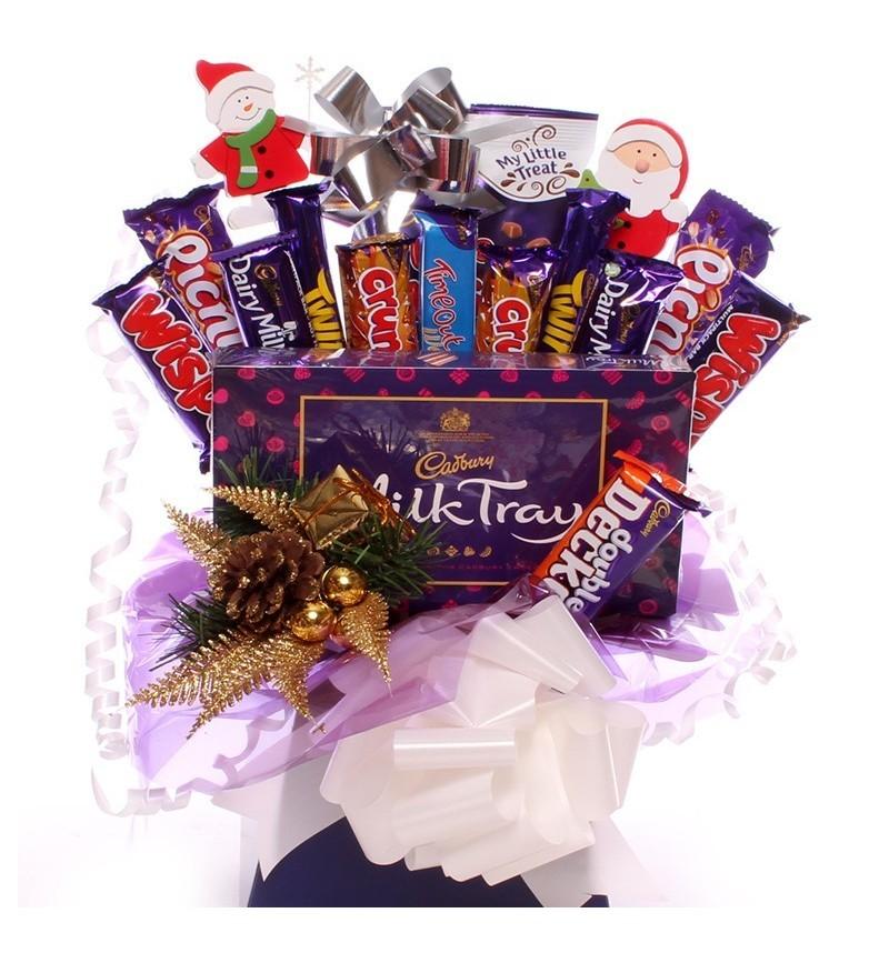 Christmas Milk Tray and Cadbury Chocolate Bouquet.