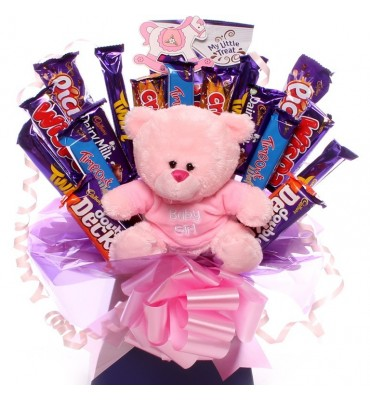 Baby Girl Chocolate Bouquet.