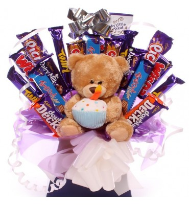 Birthday Teddy and Chocolate Bouquet.
