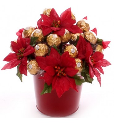Ferrero Rocher Poinsettia Gift Pot.