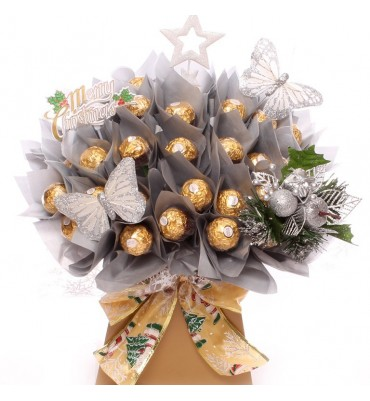 Golden Christmas Chocolate Bouquet