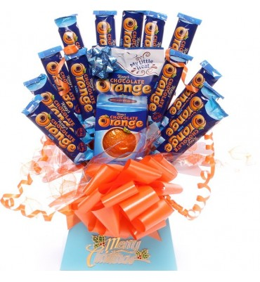 Terry's chocolate orange Christmas chocolate bouquet.
