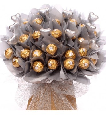 Sliver Wedding Chocolate Bouquet