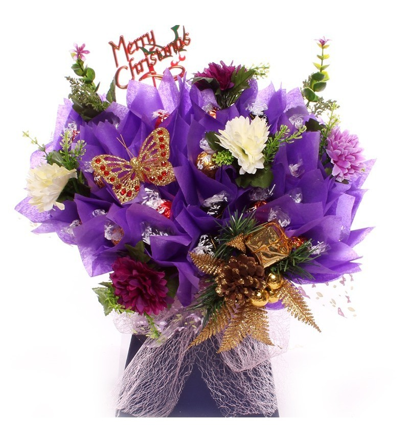 Christmas Lindor Purple Chocolate Bouquet.