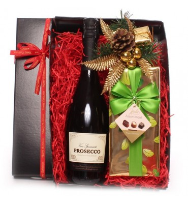 Christmas Prosecco and Chocolate Gift Box