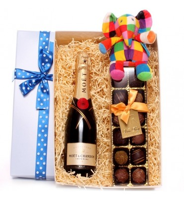 Champagne and Truffles Elmer Gift Box Boy
