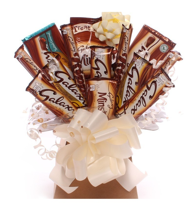 Galaxy Chocolate Bouquet In A Cream And Brown Theme