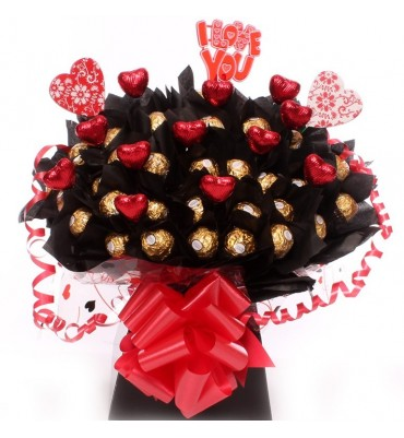 All of My Heart Ferrero Rocher chocolate bouquet.