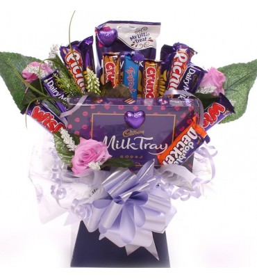 Mother's Day Cadbury Chocolate Bouquet With Milk Tray.