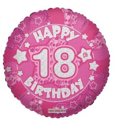 18th Birthday Balloon In A Box Pink