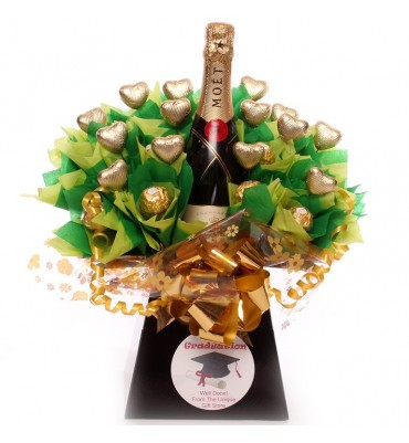 Graduation Champagne Chocolate Bouquet
