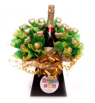 Thank You Champagne Chocolate Bouquet