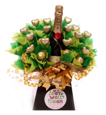 Get Well Champagne Chocolate Bouquet