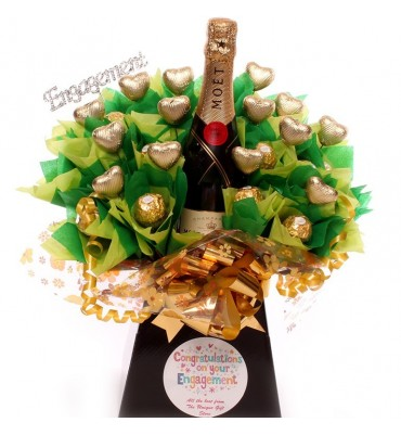 Engagement Champagne Chocolate Bouquet