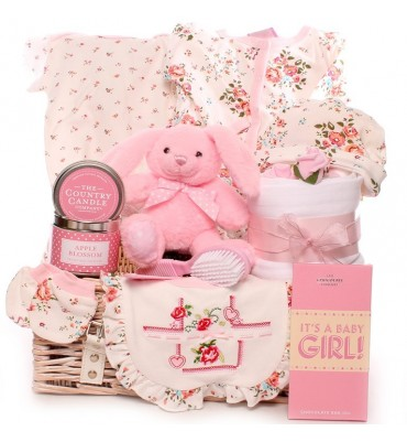 Bella Rose New Baby Girl Hamper