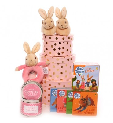 Flopsy Rabbit Baby Hamper Gift Tower.