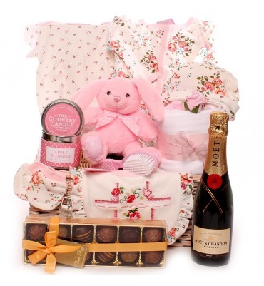 Champagne Bella Rose Baby Hamper