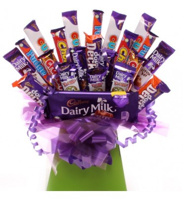 A big treat chocolate bouquet.