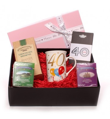 40th Birthday Afternoon Tea Hamper for Her.