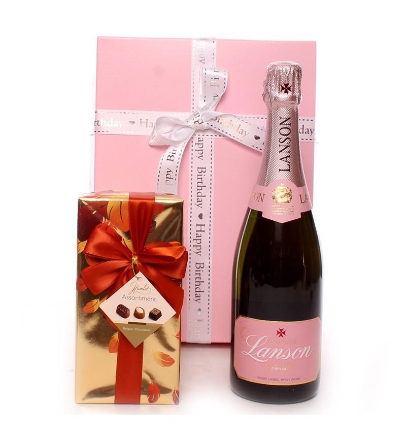 Birthday Lanson Champagne Gift.