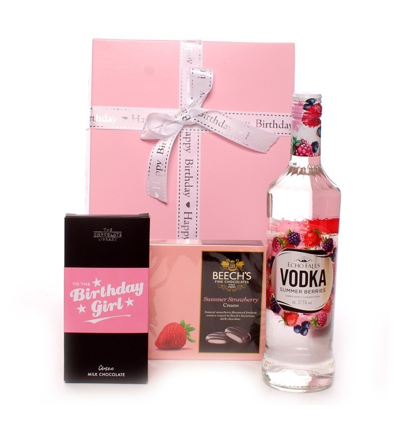 Vodka Happy Birthday Gift Set.