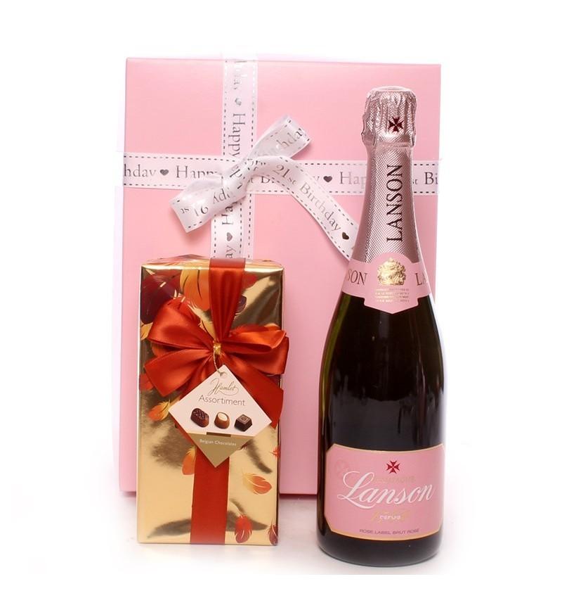 21st Birthday Lanson Champagne Gift.