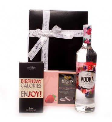 Vodka 60th Birthday Gift Set.