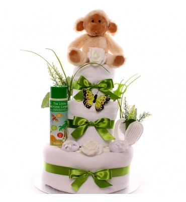 Monkey Nappy Cake