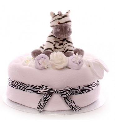 One Tier Neutral Nappy Cake.