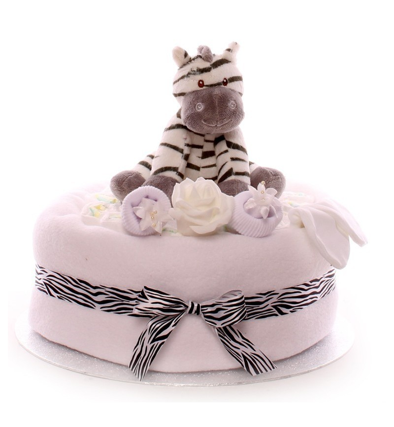 Terrific A One Tier Neutral Nappy Cake Personalised Birthday Cards Epsylily Jamesorg