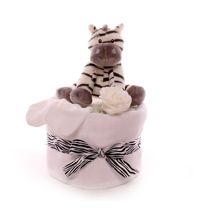 Zebra Mini Nappy Cake