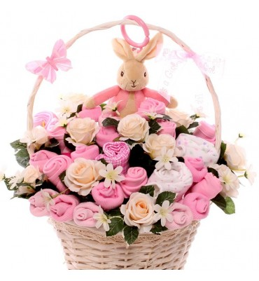 Flopsy Rabbit Jiggle Baby Bouquet.