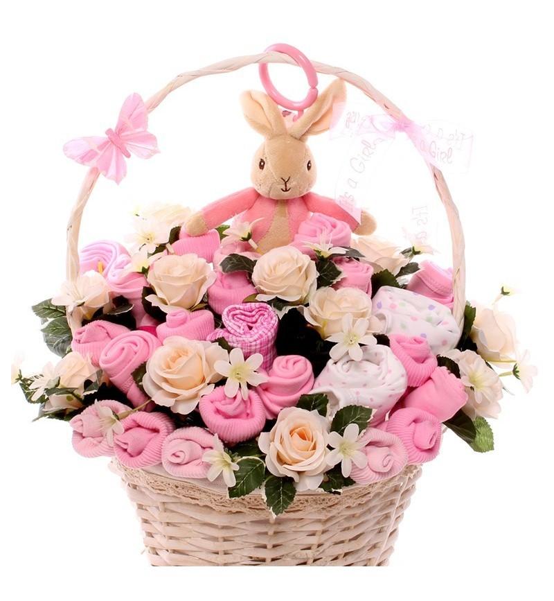 Flopsy Rabbit Jiggle Baby Bouquet.