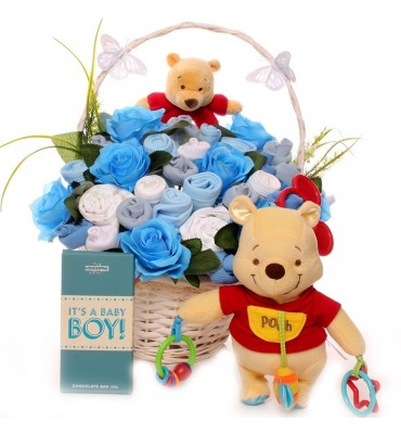 Luxury Pooh Bear Baby Bouquet.
