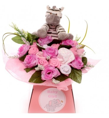Cute Zebra Baby Clothing Bouquet.